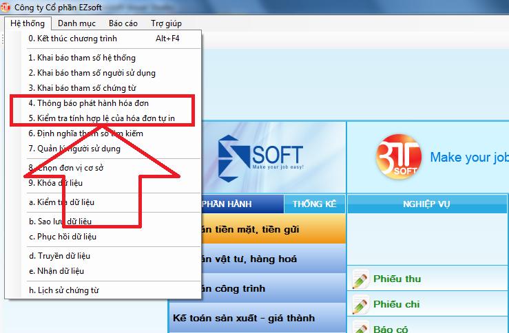 Thông báo phát hành hóa đơn phần mềm kế toán 3TSoft