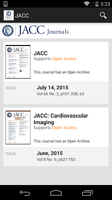 JACC Journals - screenshot