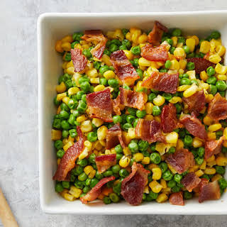 Peas and Corn with Thyme Butter.