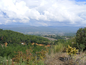 Photo: A view down into the valley on another beautiful Provence afternoon.