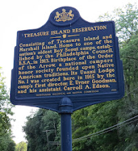 Photo: Then we went to find Marshall Island in the Delaware River where he once lived. Marshall Island and Treasure Island belong to the Boy Scouts of America now.