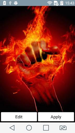 Raging fist live wallpaper