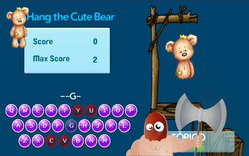 Hang the Cute Bear screenshot
