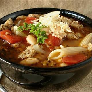 Italian Pasta and Bean Soup.