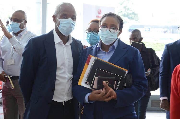 Co-op Bank Fleet Africa chief commercial officer Antony Kamau and corporate banking head Alice Karuri