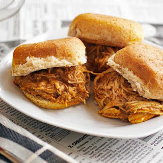 Slow Cooker Buffalo Chicken and Ranch Sliders.