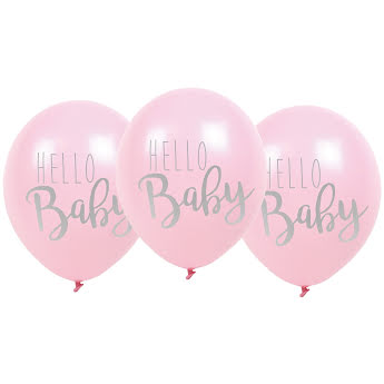 Balloon hello baby pink