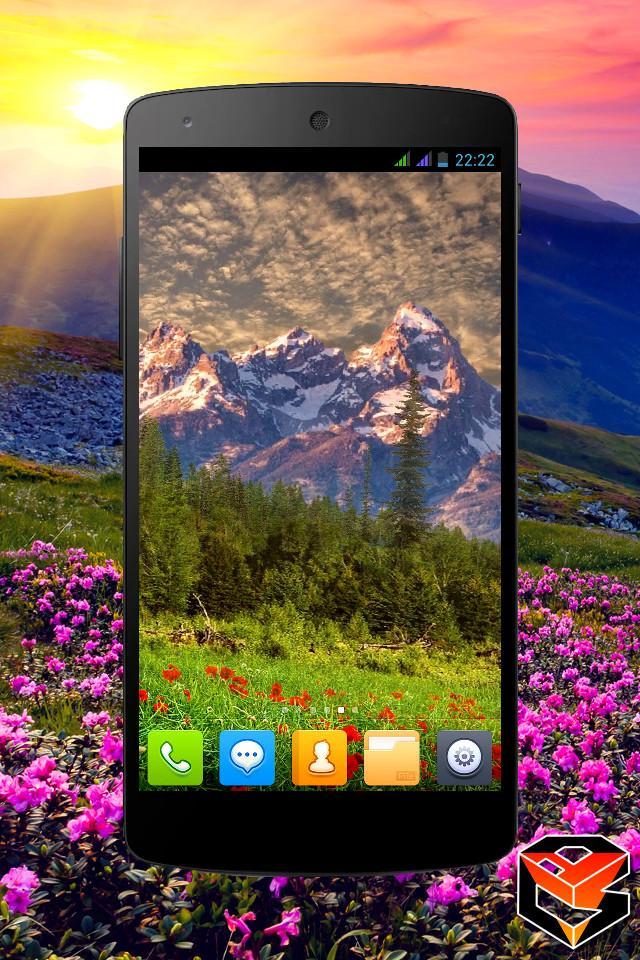 Mountain Flowers Pro Live Wallpaper Screenshot 3