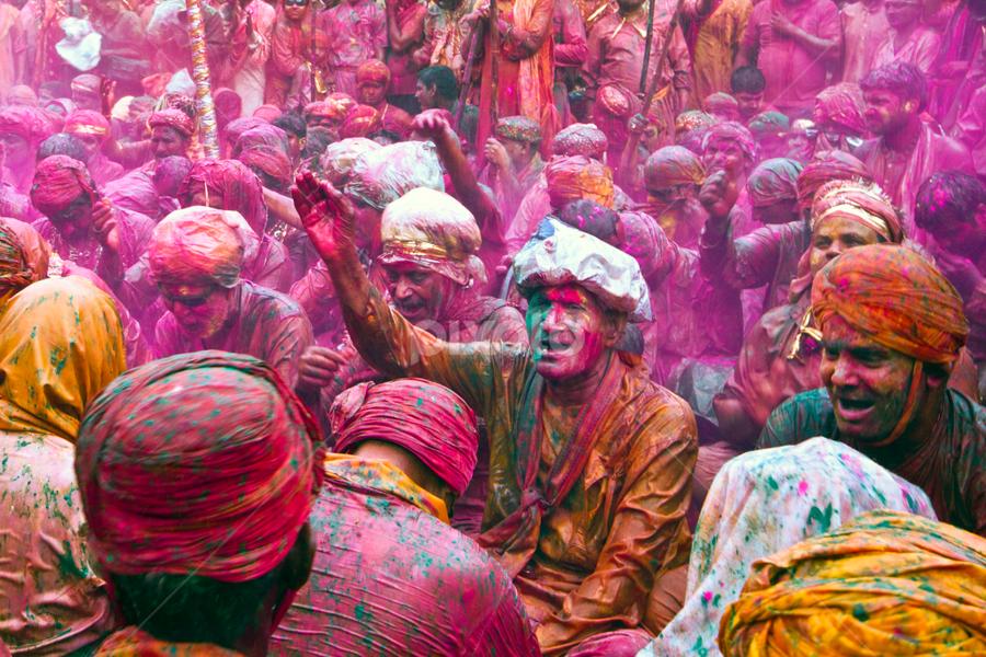 Holi Celebrations - Shri Nandrai Temple by Vishal Gulati - People Street & Candids ( prayer, cheer, ritual, colorful, celebrations, nandgaon, candid, people, barsana, color, sing, festival, holi, pwccandidcelebrations, celebrate )