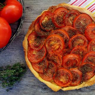 Mediterranean Tomato Tart [vegan]
