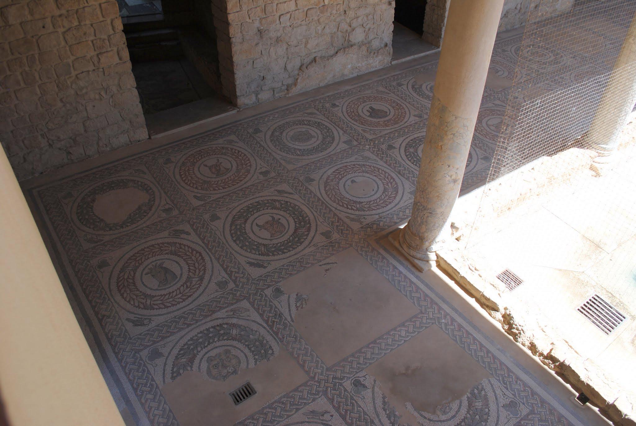 My Photos: Italy -- Mosaics -- Sicily -- Piazza Armerina -- Peristyle Courtyard