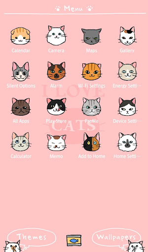 Wallpaper I Love Cats Theme 1.0.0 Windows u7528 2