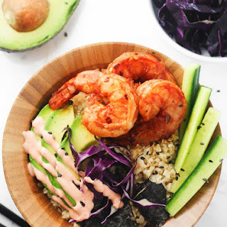 Low Carb Spicy Shrimp Sushi Bowls