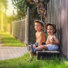 Young farmers by Piotr Owczarzak - Babies & Children Children Candids ( village, boys, mogilno, children, kids, poland )