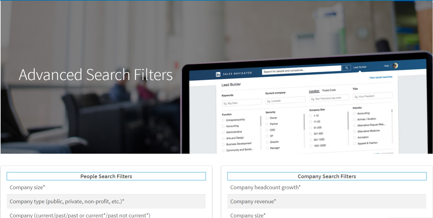 LinkedIn advanced people search filters make it easy to find the right people