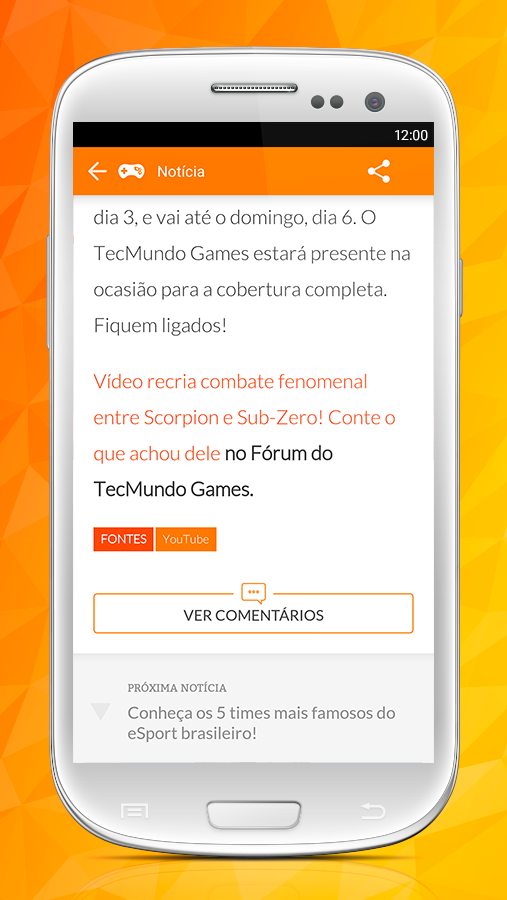 TecMundo Games: captura de tela