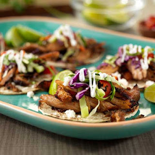 Michoacan-Style Pork Carnitas with Green Apple Slaw Recipe