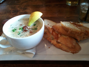 Photo: Clam chowder at Burgoo in Vancouver.