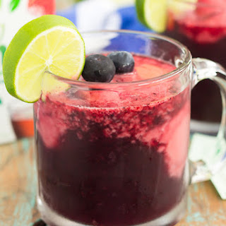 Blueberry Sorbet Punch.