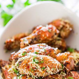 Crispy Baked Parmesan Chicken Wings.