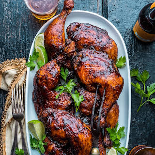 Ancho Chili Smoked BBQ Chicken Legs.