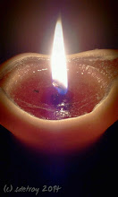 Photo: I feel grateful for the light of candles during a Solstice Celebration
