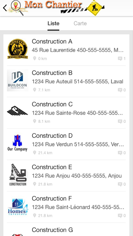 Mon Chantier- screenshot