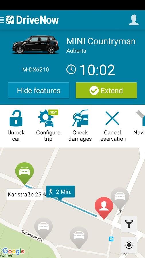 DriveNow Carsharing- screenshot