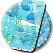Blue Whales Keyboard Theme