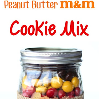 Chocolate Peanut Butter MM Cookie Mix in a Jar!