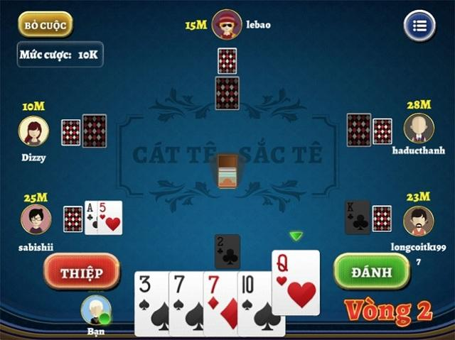 đánh bài catte