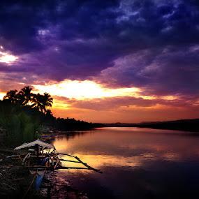 Bongliw Sunrise by Jayrol Cabagtong - Landscapes Waterscapes