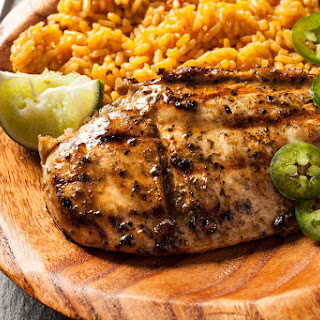 Grilled Chicken Breasts with Lime Cilantro Marinade.
