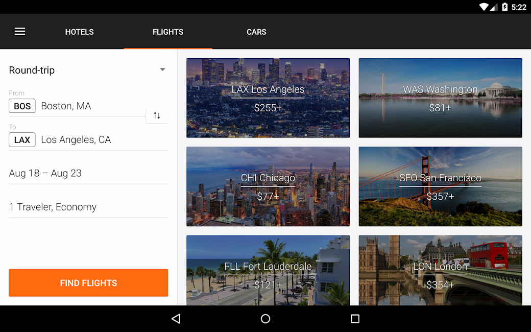 #15. KAYAK Flights, Hotels & Cars (Android)