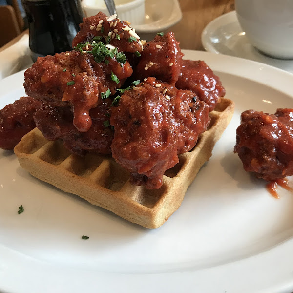Spicy Chicken and waffle