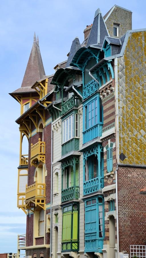Art Deco by Heather Aplin - Buildings & Architecture Homes ( houses, art, deco, france, coast,  )