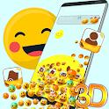 3D Emoji Gravity Launcher Theme 😘 icon