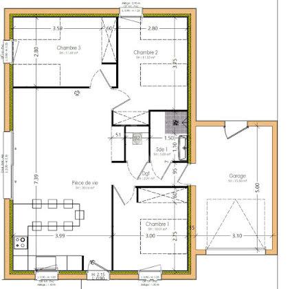 Vente maison 4 pièces 70,59 m2