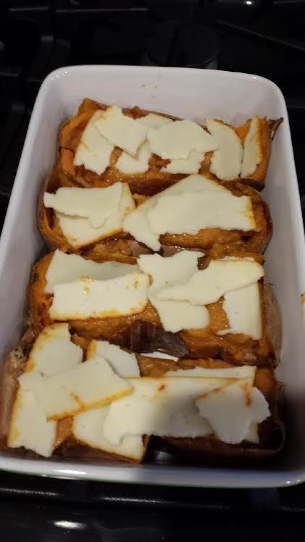 Top the potatoes with cheese.  Place back into the oven and bake at...