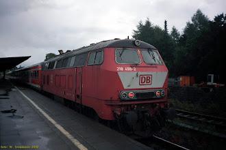 Photo: 218 499-2 (DB) {Ahrensburg; 2002-07-21}
