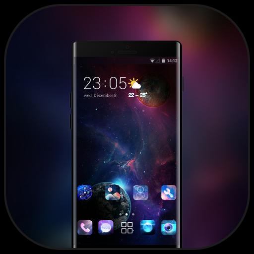 Theme for nokia5.1 plus dark space wallpaper icon