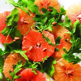 Pink Grapefruit Salad Recipe with Maple Syrup and Vanilla Dressing