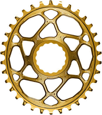 Absolute Black Oval Narrow-Wide Direct Mount Chainring - CINCH Direct Mount, 3mm Offset, Colored  alternate image 1
