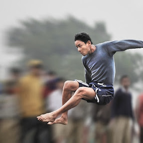 High Jump by Subrata Kar - Sports & Fitness Other Sports