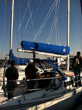 Photo: Aft quarter view of new Doyle Stackpack and full battened main