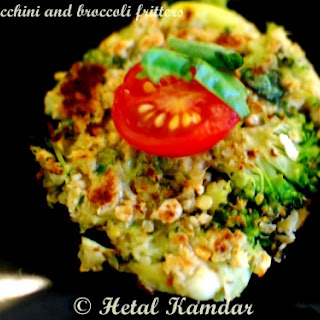 ZUCCHINI and BROCCOLI FRITTERS Recipe