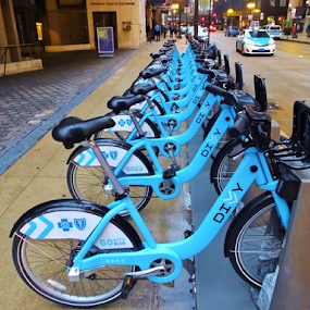 Go Blue by Gary Ambessi - Transportation Bicycles