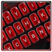 Red Metal Keyboard Theme
