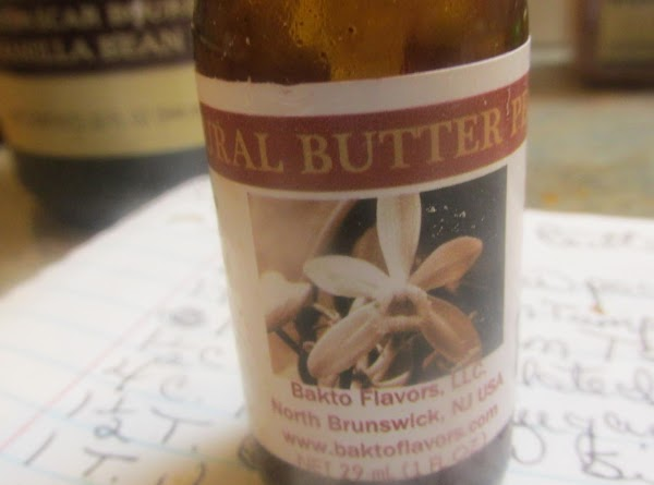 This is the natural Butter Pecan flavoring that I used & it really does have that great Butter pecan flavor, & really heightened the flavor of the cake. I ordered it from Amazon, I got 3 little bottles like this, but would prefer to have a larger bottle.