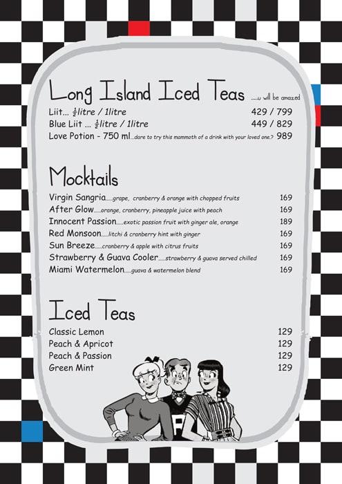 Pop Tate's menu 1